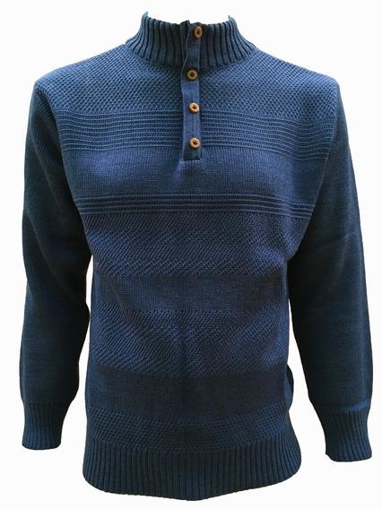 Suéter Con Medio Cierre Y Botones Hombre