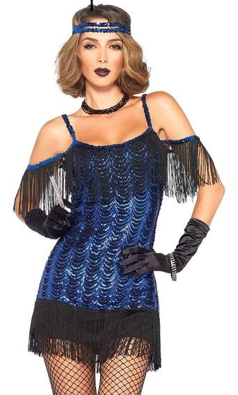 Disfraz Leg Avenue Azul/ Chico/ Gatsby Flapper 20