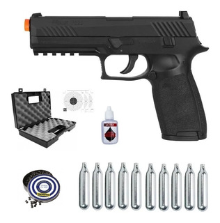 Pistola Airgun P320 Sig Sauer 4,5mm Blowback Full Metal