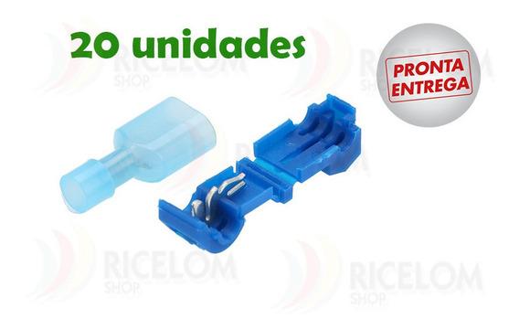 Conector Derivação Azul Para Fios 1,5 A 2,5mm - 20 Unidades