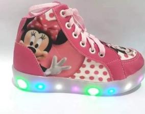 Botinha Minnie Com Luzes De Led Infantil
