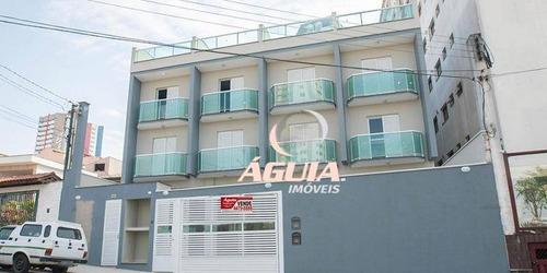 Cobertura Com 2 Dormitórios À Venda, 50 M² Por R$ 370.000,00 - Vila Assunção - Santo André/sp - Co0843