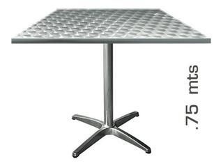 Mesa Baja De Aluminio Cuadrada