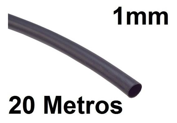 Espaguete/tubo Termo Retrátil Isolamento 1mm Preto 20 Metros