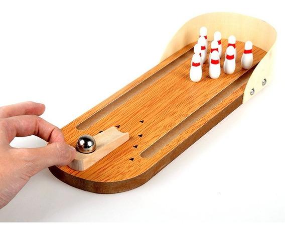 Mini Desktop Bowling Game Set Madeira Bowling Toy Modelo