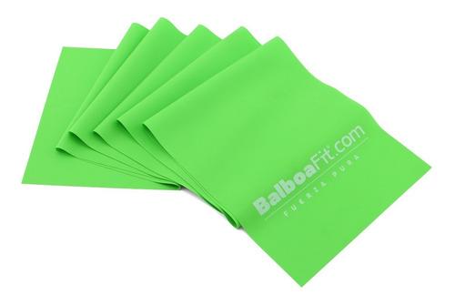 Imagen 1 de 7 de Banda Plana Elastica Latex Yoga Tiraband Balboafit Alta