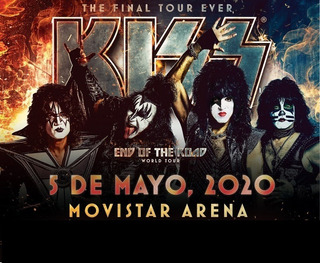 Entradas Kiss 2020 Chile | Platea Baja Numerada
