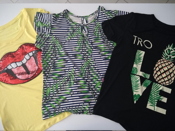 Kit 10 Tshirts Modelos Variados