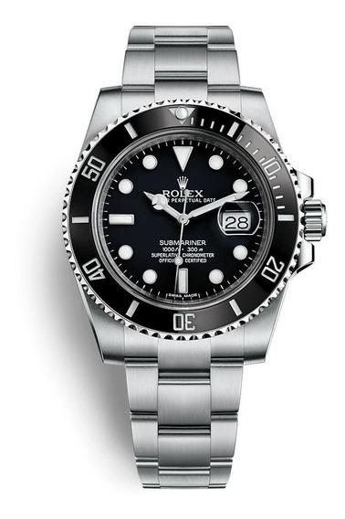 Relógio Submariner Preto Qualidade Premium