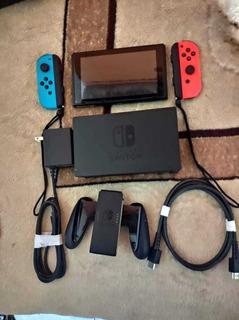 Consola Nintendo Switch, Con 3 Juegos, Funda, Joy Con De Mas