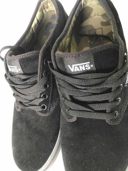 Zapatos Vans Negros Gamuza Nuevos Talla 11