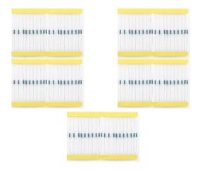 100 Resistor 220 330 1k 10k 100k 20 Un Cada 1/4w 1% Arduino