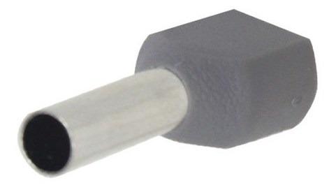 Terminal Conector Pré-isolado Tubular Duplo Pz-te4012 4mm Ci