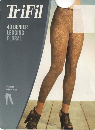 Meia Calça Legging Floral Trifil