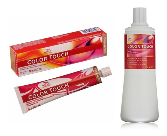 Kit 3 Tinturas Color Touch X60grs Wella + Emulsion X1000ml