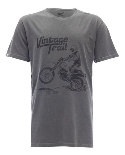 Camiseta Moto Honda Xl 250 Preta Estonada - Coleção Vintage