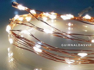 Guirnalda Calida Alambre Microled Led 3 Mts Pilas Navidad