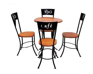 Mesa De Quatro Cadeiras Feita Em Madeira Jequitibá Alto Luxo