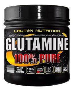 L Glutamina Pó 150g 100% Pura Lauton Nutrition Importada