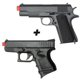 Pistola Airsoft Spring Glock Baby+pistola Airsoft1911 - Toy