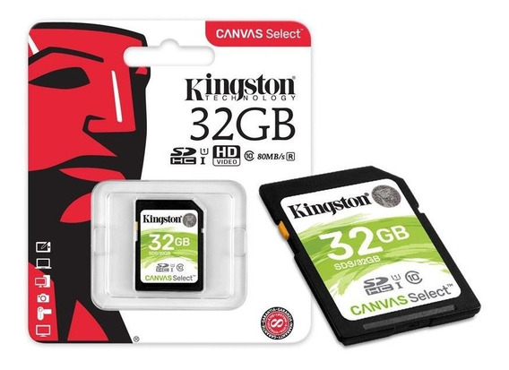 Cartao De Memoria 32gb Kingston 32gb Uhs-i U1 Canvas Select