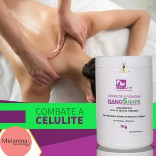 Creme De Massagem Nanoshape 1kg Dermare - 3un Frete Grátis