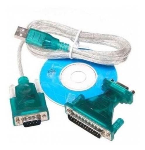 Cabo Serial Conversor Usb X Serial Db9 + Adaptador Db25