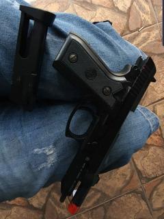 Pistola Airsoft Kwc Pt99 Pouco Uso Semi E Fullauto Metal