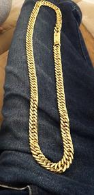 Cordão Lacraia 13mm Ouro 18k
