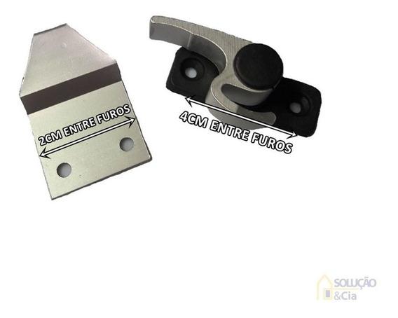 Trinco Fecho 751 Japones Meia Lua Janela Aluminio - 01 Unid