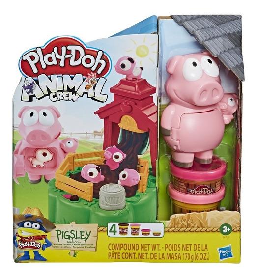 Novo Play Doh Farn Animal Crew Pigsley Porco Hasbro