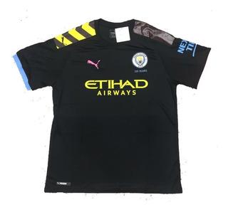 Camisa Tailandesa Do Manchester City Preta 2019 Modelo Novo