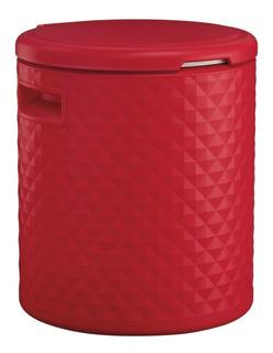 Hielera Tipo Mesa Roja 54 Qt Tipo Banco 3 En 1 Taburete