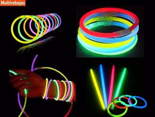Titulo: 15 Pulseras Glow Neon Manillas Led Sticks Luminosas