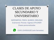 Profesora Particular: Matematica-fisica-quimica-biologia