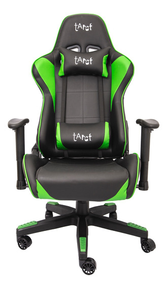 Cadeira Gamer Tarct, Preto/verde, Tct-9012