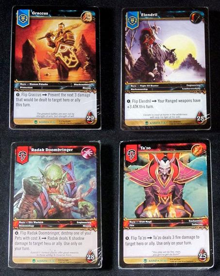 4 Decks World Of Warcraft Card Game - Wow Tcg Hearthstone