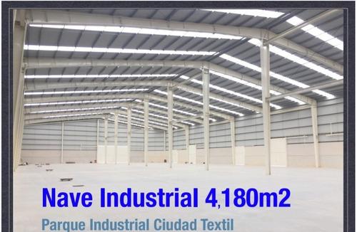 Imagen 1 de 6 de Nave Industrial En Renta En El Parque Industrial Ciudad Textil, Huejotzingo, Puebla