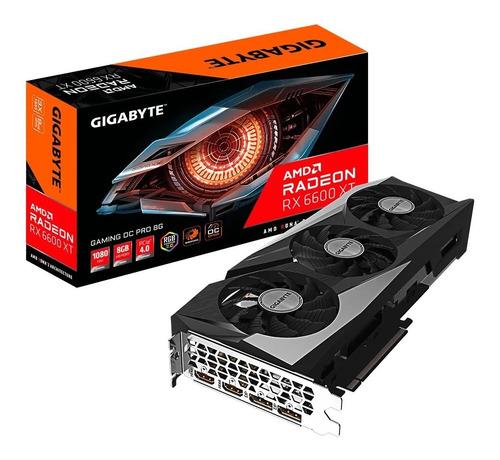 Imagen 1 de 9 de Placa De Video Gigabyte Rx 6600 Xt Gaming Oc Pro 8g Gddr6