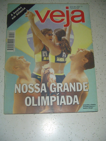 Revista Veja 1455 Serra Pelada Satanás Volei Olimpiadas 1996