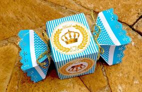Caixa Personalizada Rei/ Príncipe-papel Foto-10unidades