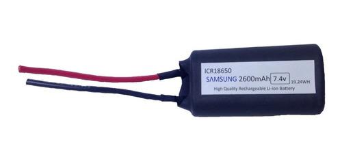 Imagen 1 de 3 de Bateria 18650 7.4v  2600mah Samsung