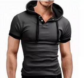 Playera Hombre Slim Fit De Moda Casual , Camisa Manga Corta