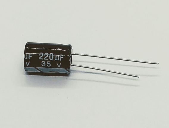 Capacitor Eletrolitico 220uf 35v 8x12 105º 2,54mm Kit 100pçs