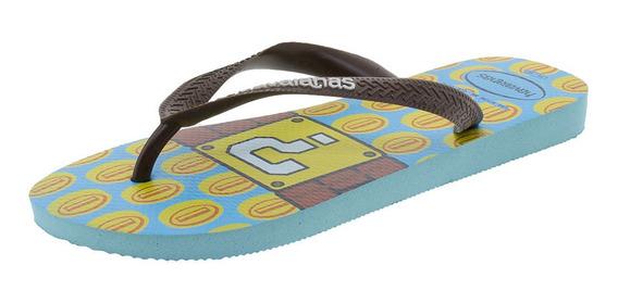 Chinelo Mario Bros Havaianas - 4140269 Azul/amarelo