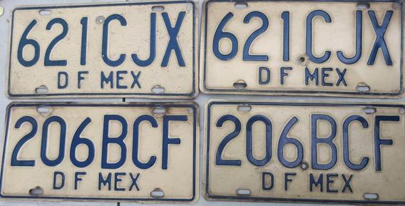 2 Juegos De Placas Df Mex ( 1986 - 1991 )