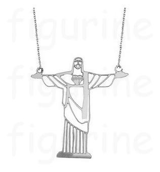 Colar Com Pingente De Cristo Redentor / Rio ! Em Prata 925 !