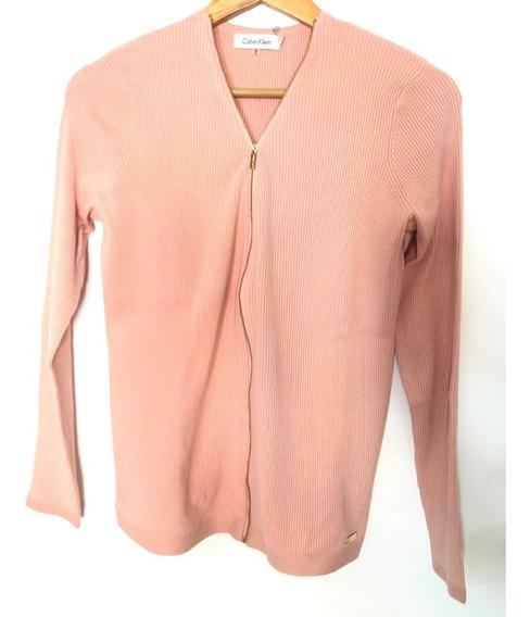 Cardigan Cierre Calvin Klein Rosa Sweater