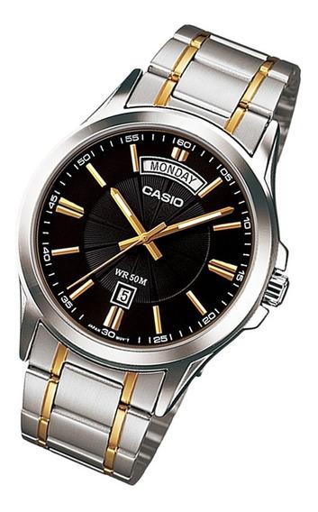 Relógio Casio Mtp-1381g-1a Pulseira De Aço