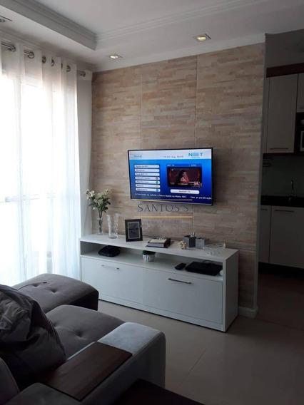 Apartamento Mobiliado Para Aluguel Com 2 Dormitórios 52 M² Por R$ 2.500 - Vila Mascote - São Paulo/sp - Ap1769